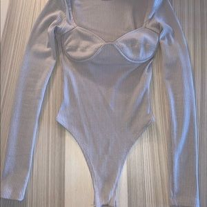 Oh Polly Tops - Oh Polly Bodysuit - Taupe